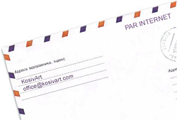 KosivArt news envelope