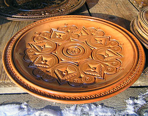 Hutsul wood-carved plate. Photo: Roman PeCHYZHak