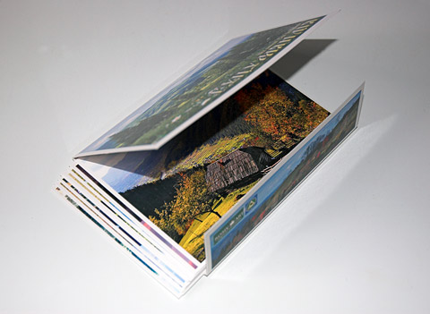 Package with post cards