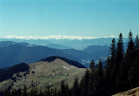 Ukrainian Carpathians, Blackmountains (Chornogora) view from a Bukivez range