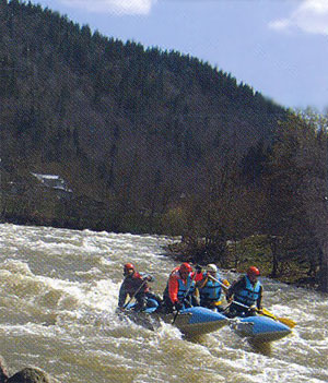 Water extreme rafting