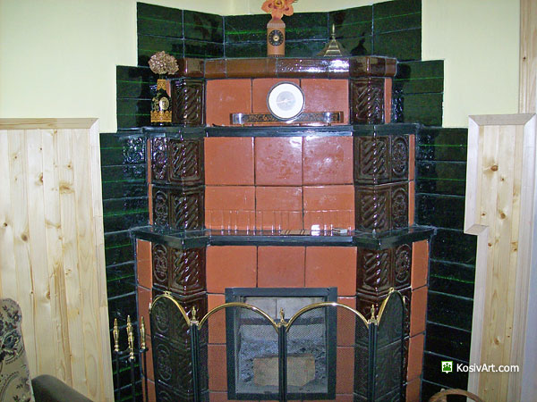 Кімната з каміном в особняку